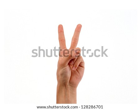Male hand - stock photo