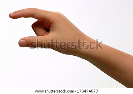 male hand - child - stock photo