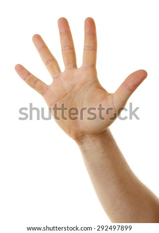 Male hand close up - stock photo