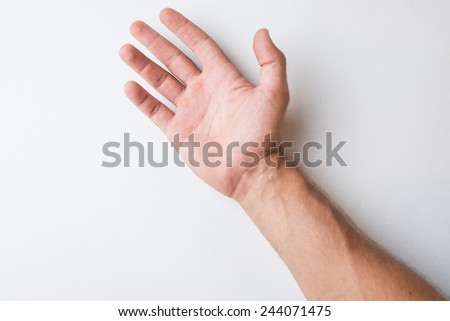 Male Hand detail Close Up. - stock photo