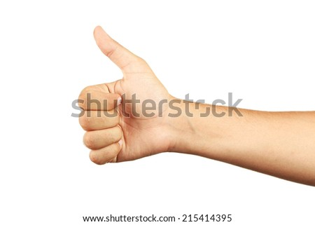 Male hand gesturing the ok