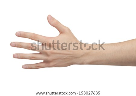 Male hand isolated - stock photo
