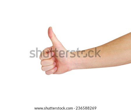 male hand showing a ok hand sign