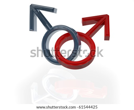 male homosexual sign - stock photo