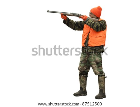 male hunter isolated including clipping path at original size