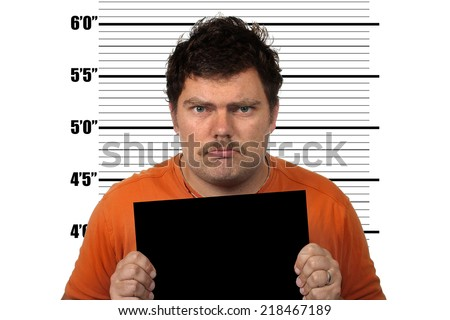 Male Inmate Mug Shot - stock photo