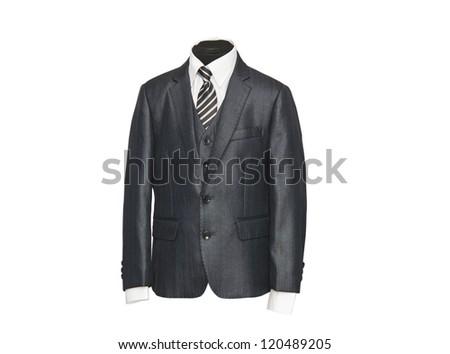 male jacket isolated on white background - stock photo