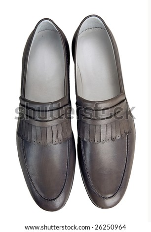 Male leather shoes isolated in white