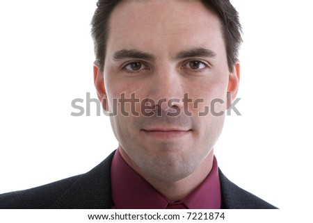 Male Model in Business suit over white background