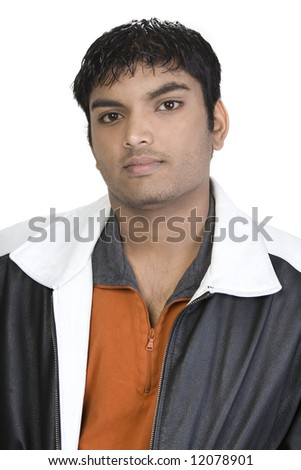 Male Model over a white background