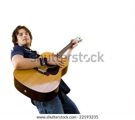 Male musician with guitar