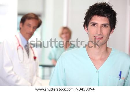 Male nurse. - stock photo