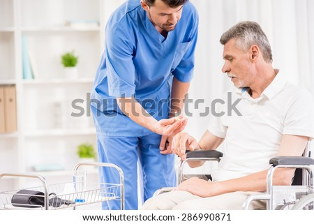 Caring Doctor Middle Aged Patient Office Stock Photo ...