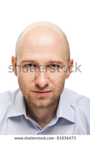 Male portrait - serious adult man looking face - stock photo