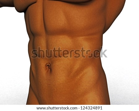 male press on a white background ?1 - stock photo