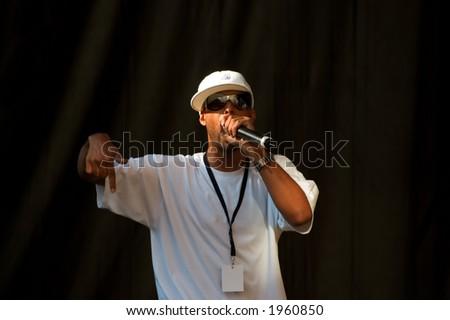 male rapper - stock photo