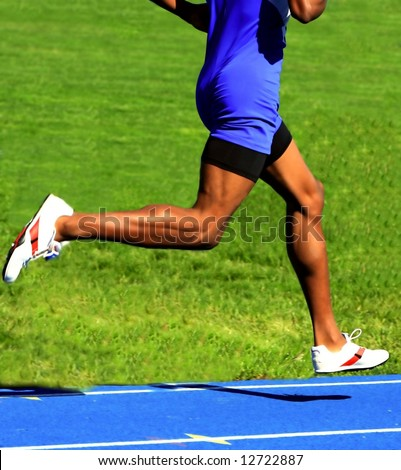 male runner - stock photo