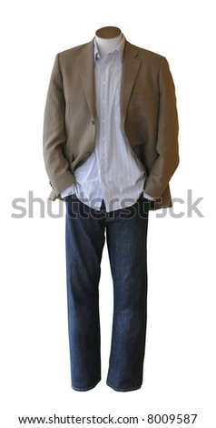Male shop mannequin dressed in casual clothes - stock photo