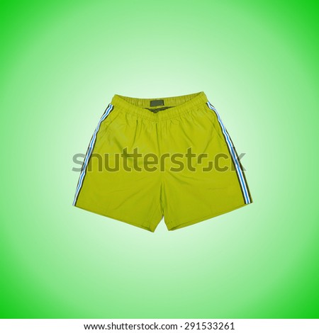 Male shorts against the gradient background
