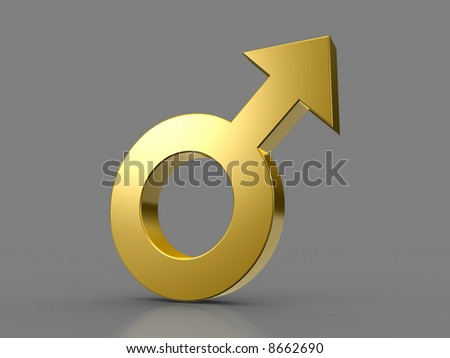 Male sign - stock photo