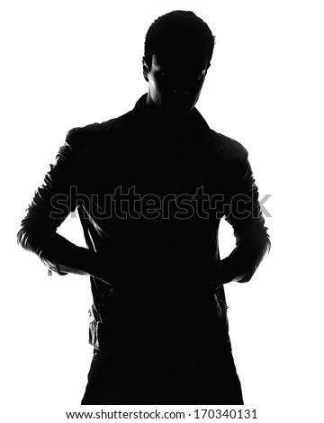 male silhouette - stock photo