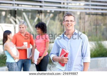 Male Student - stock photo