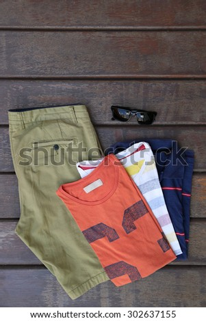 Male summer fashion set - stock photo