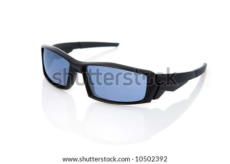 male sunglasses isolated on the white background