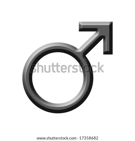 male symbol - stock photo