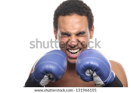 Male teenager boxer