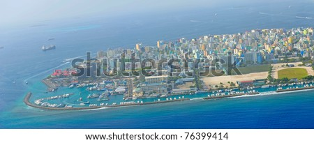 Male the capital of Maldives - stock photo