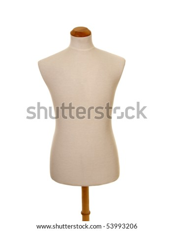 male torso mannequin isolated on white - stock photo