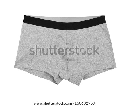Male underwear isolated on the white background  - stock photo