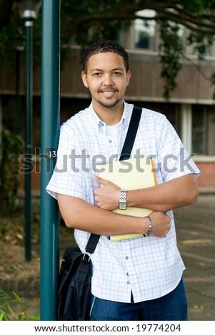 male university student - stock photo