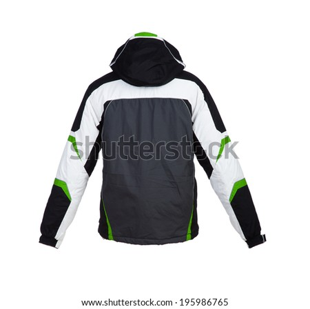 Male winter jacket isolated on the white - stock photo