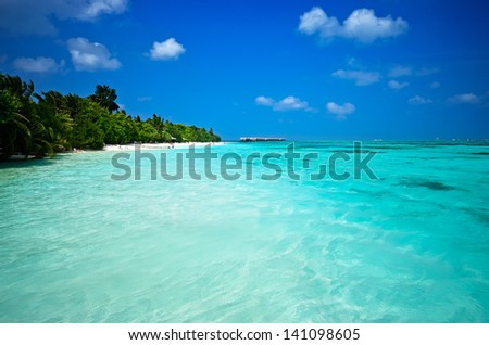Maledives Ocean 02 - stock photo