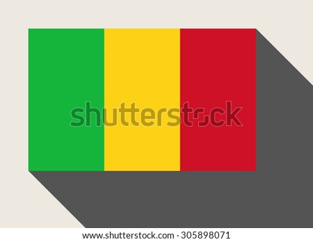 Mali flag in flat web design style. - stock photo