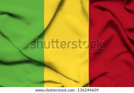 Mali waving flag