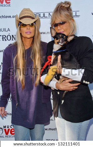 "MALIBU, CA - AUGUST 05: Barbi Twins at ""Bow Wow Ciao"" to Benefit Much Love Animal Rescue on August 05, 2006 at John Paul and Eloise Dejoria Estate in Malibu, CA. - stock photo"