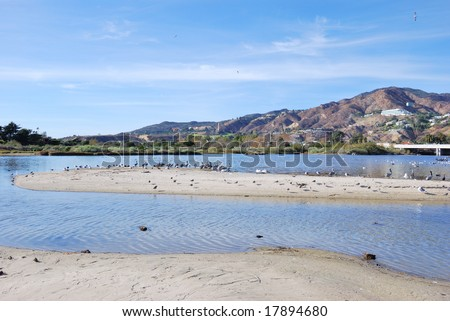 Malibu Lagoon State Beach - stock photo