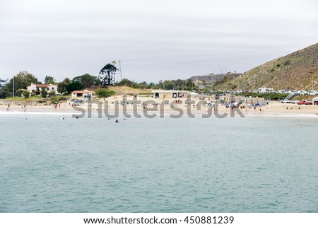 Malibu Lagoon State Beach in Malibu California - stock photo