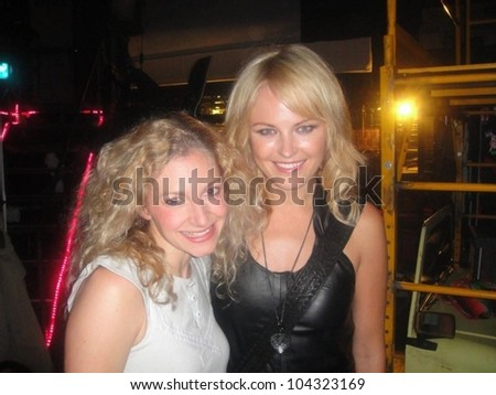 Malin Akerman  backstage at a performance 'Rock of Ages'. Atkinson Theatre, New York, NY. 06-10-09
