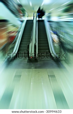 mall abstraction - stock photo