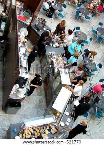 Mall Coffee shop, in the Trafford Centre Manchester - stock photo