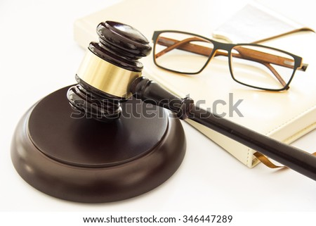 Mallet of justice. Law concept. Gavel - stock photo