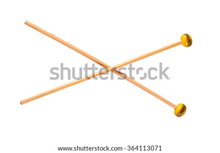 Mallets Percussion isolated on white background - stock photo