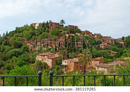 Mallorca, Balearic islands: a view of the rural town of Valldemossa on June 8, 2012. Valldemossa is one of the prettiest villages in Mallorca: perched on a hill, the town is at about 17 km from Palma