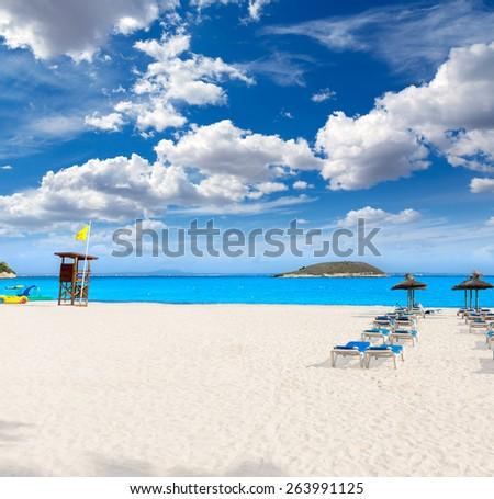 Mallorca Magaluf Magalluf beach in Calvia Mallorca at Balearic islands of Spain - stock photo