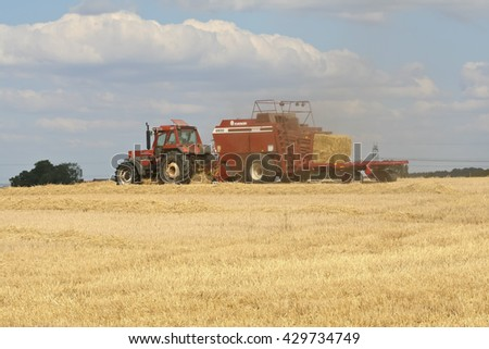 MALMO, SWEDEN - JULY 15, 2006: Harvest on the fields of Skane