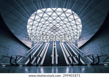 MALMO, SWEDEN - JUNE 28, 2015: Malmo Triangeln Underground Train Station Opened in December 2010 as a part of the newly built Citytunneln. - stock photo